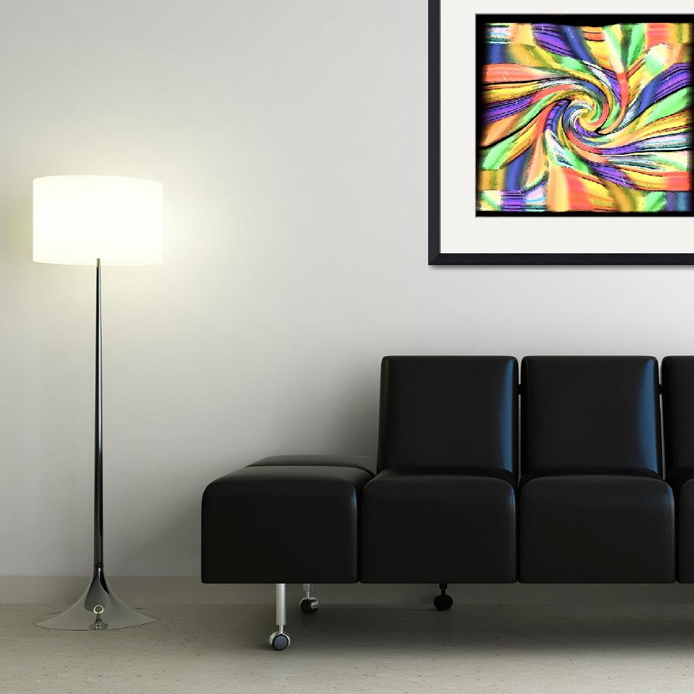 """Color Patchwork Swirl&quot  (2012) by KsWorldArt"