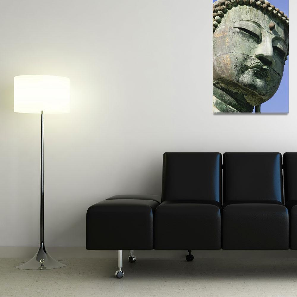 """Face Of The Daibutsu Or Great Buddha, Close Up&quot  by DesignPics"