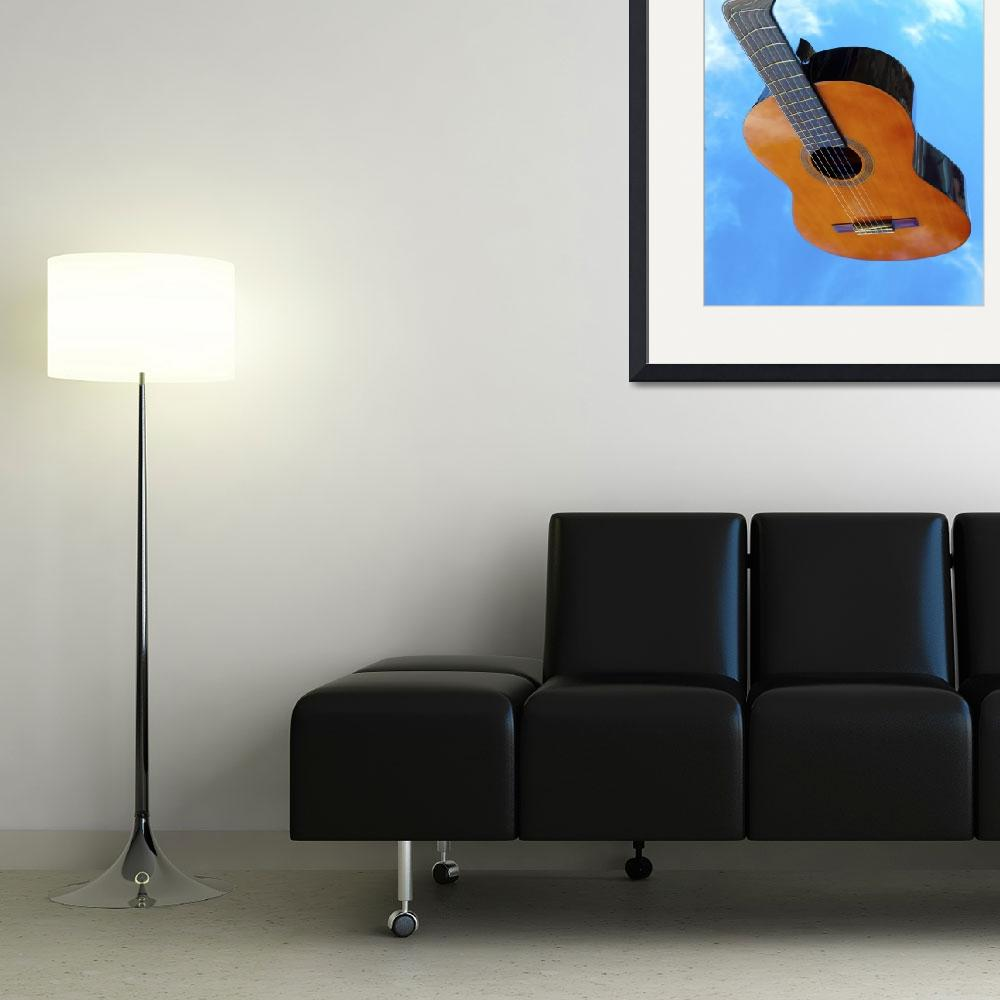 """Flying Warped Acoustic Guitar&quot  (2010) by Paul_Rumsey"