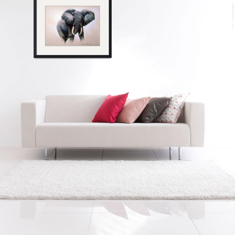 """African Elephant Study&quot  by ArtLoversOnline"
