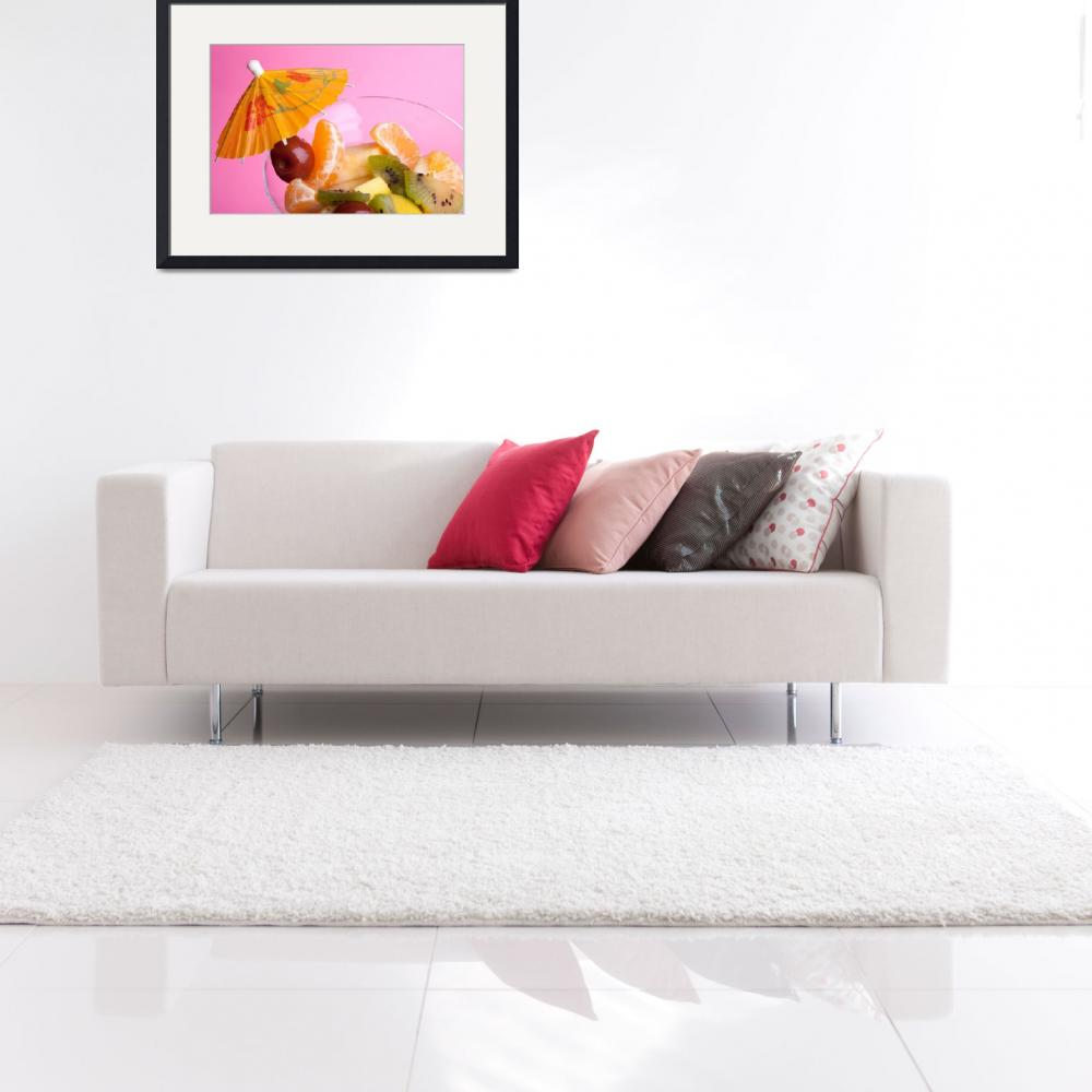 """Fruit Salad On Pink&quot  (2011) by shopartgallery"