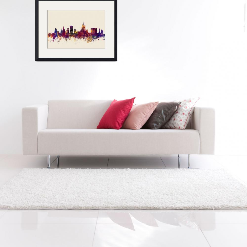 """Aberdeen Scotland Skyline&quot  (2015) by ModernArtPrints"