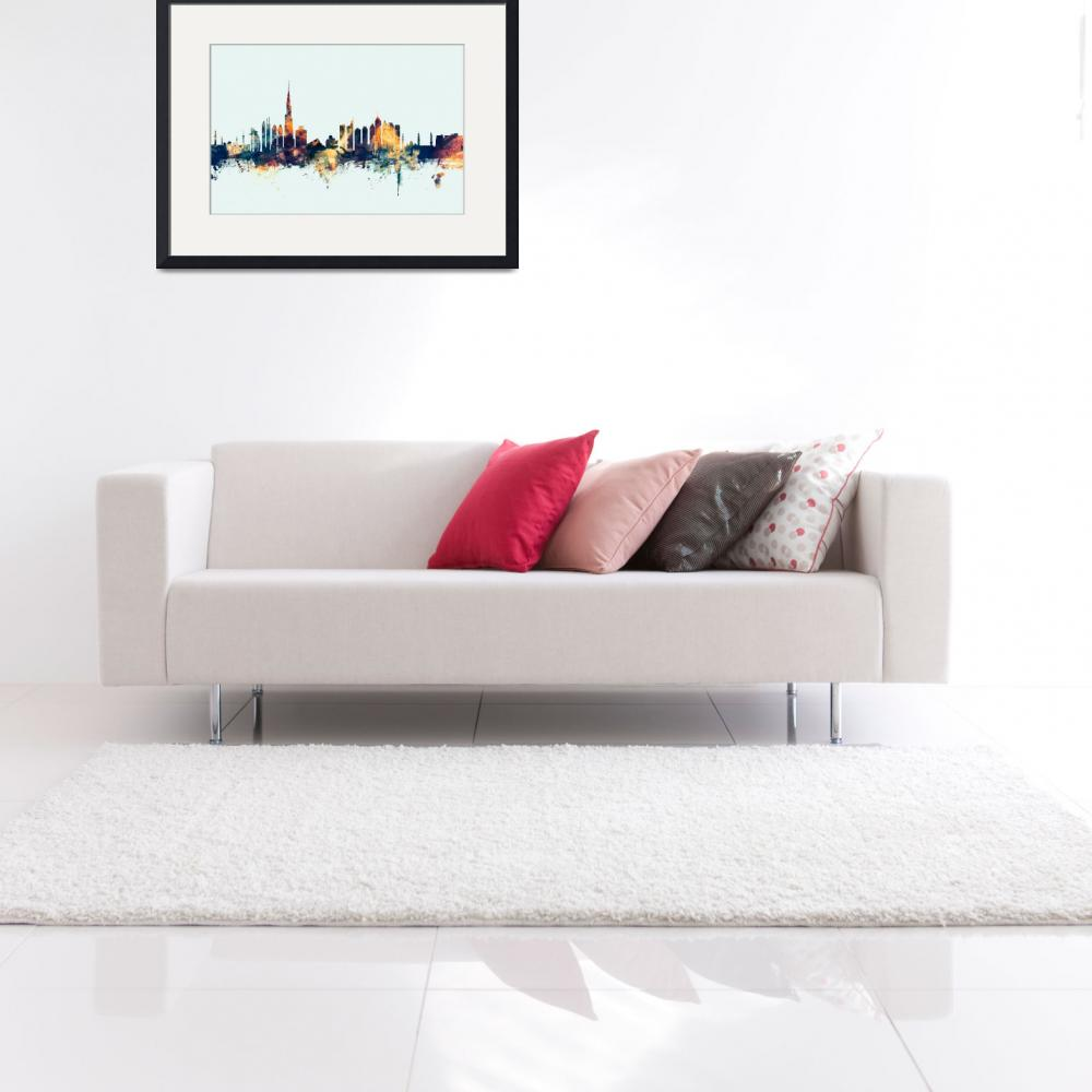 """Dubai Skyline&quot  (2015) by ModernArtPrints"