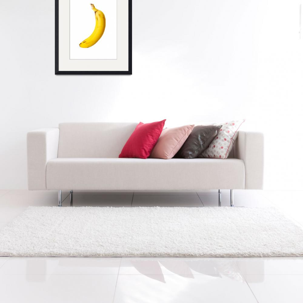 """Ripe banana isolated on white background&quot  by Piotr_Marcinski"