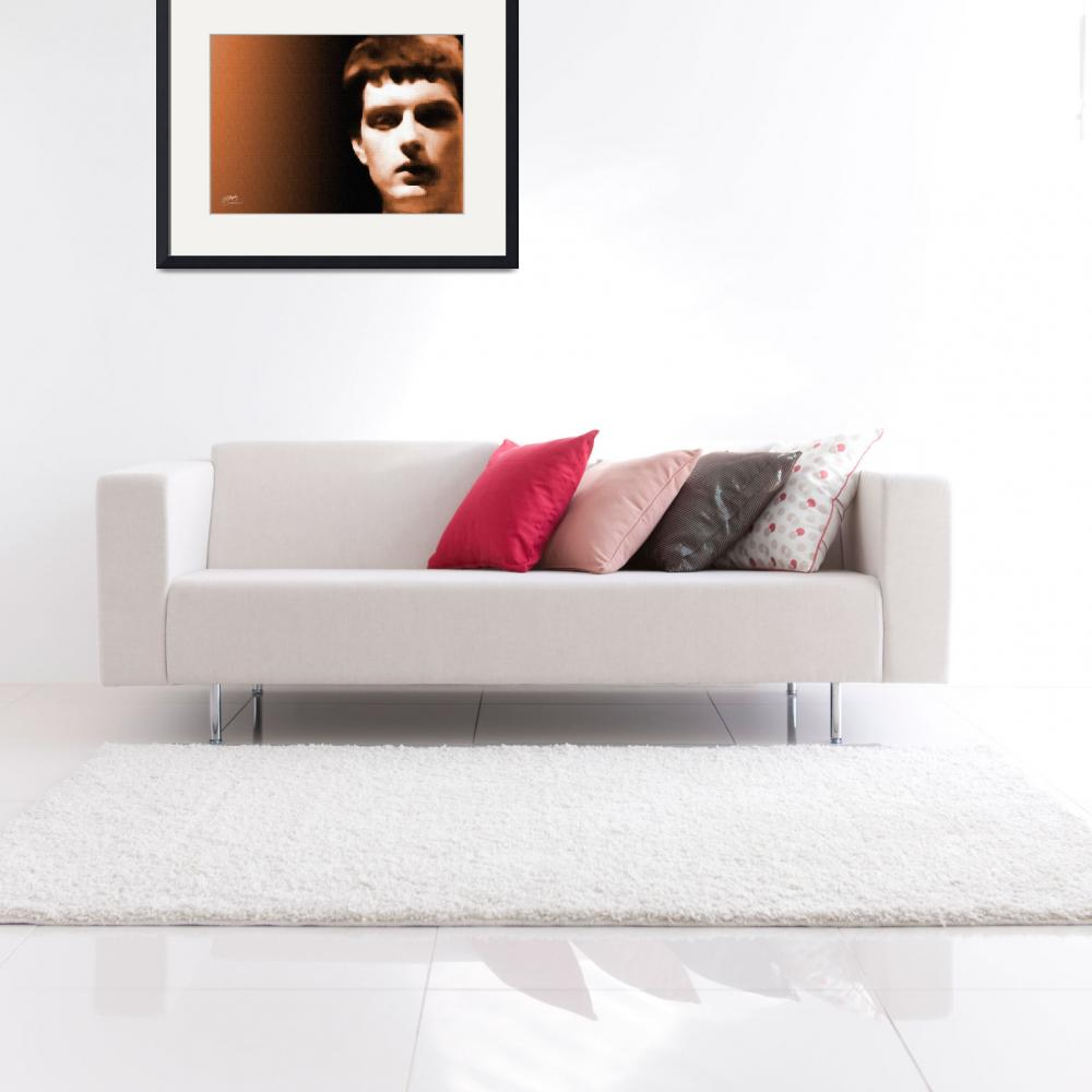 """Ian Curtis, Joy Division - fine art giclee print&quot  (2007) by positiveID"