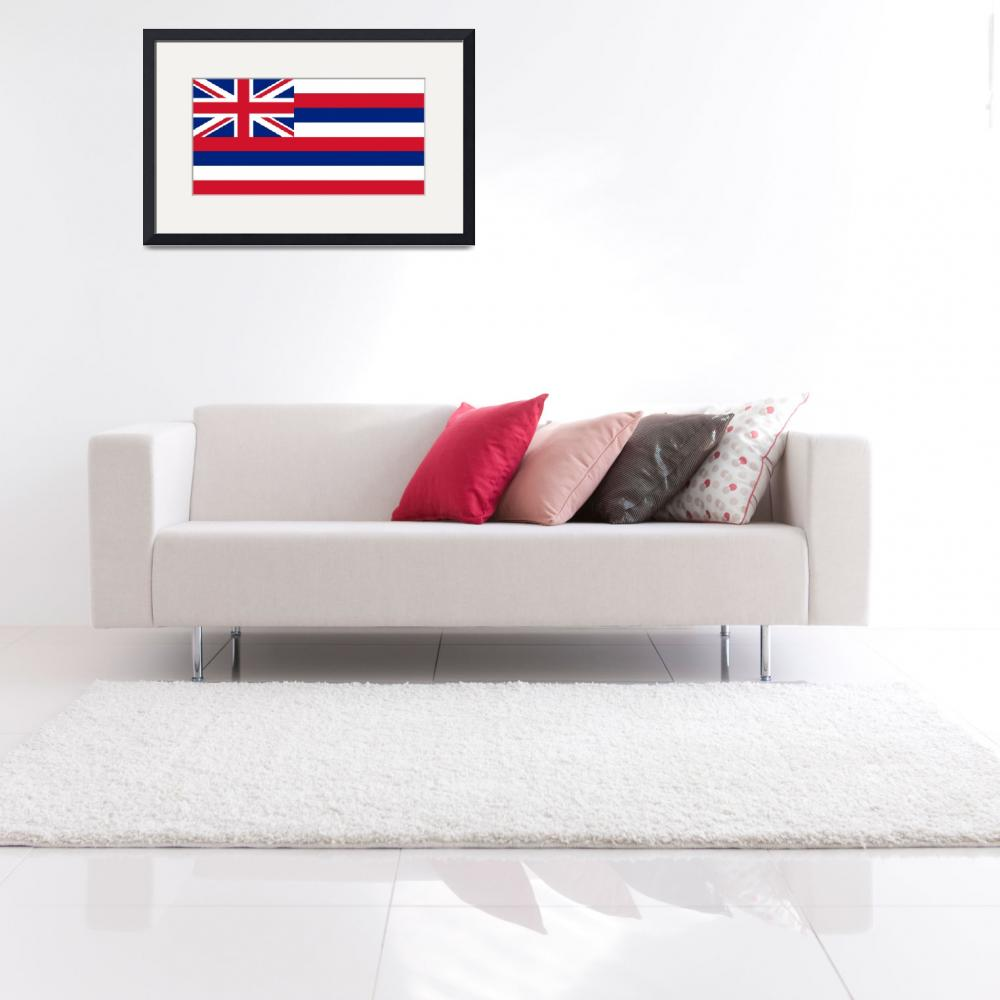 """State Flag of Hawaii Authentic 1-2 version&quot  (2013) by BruceStanfieldArtist"