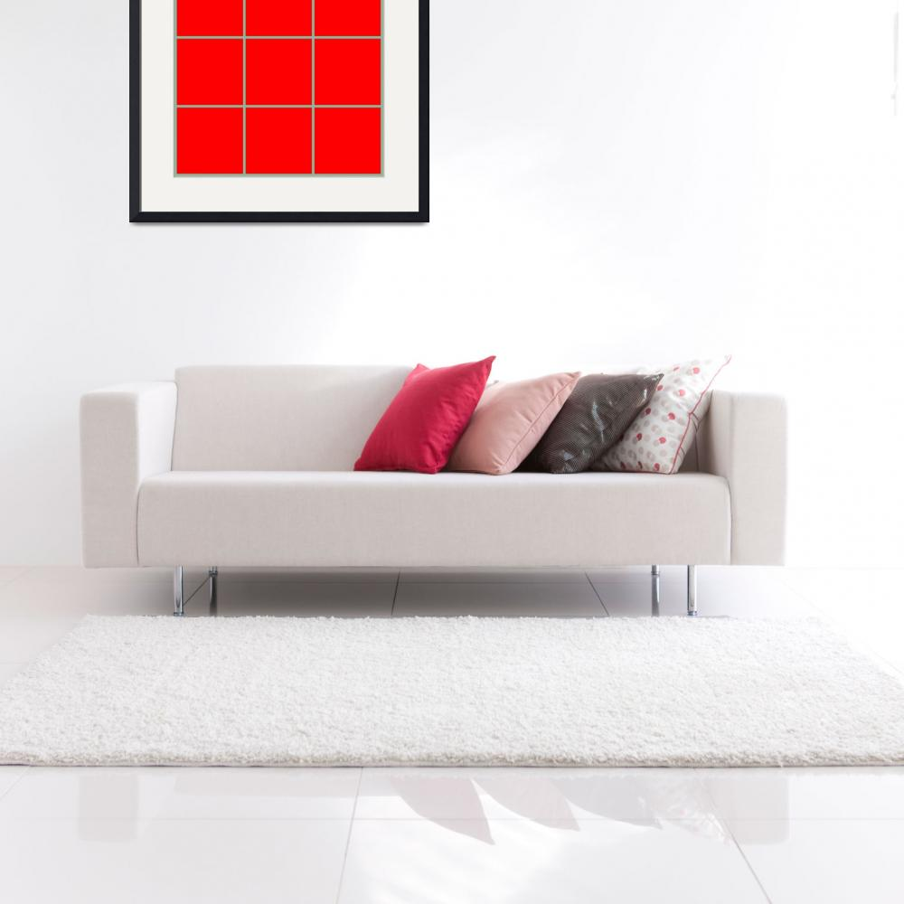 """Red Window 124 Canvas Contemporary Modern&quot  (2010) by Ricardos"