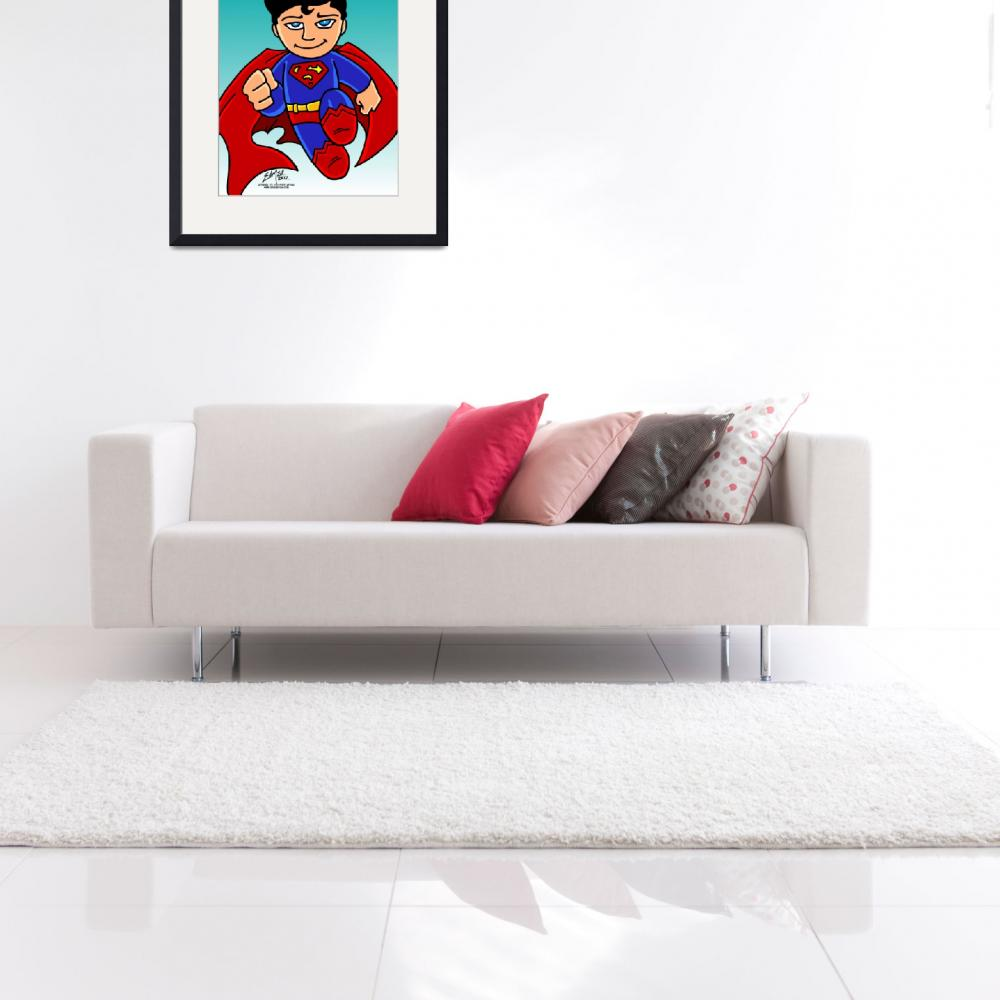 """Superman Chibi&quot  (2012) by EdMedArt"