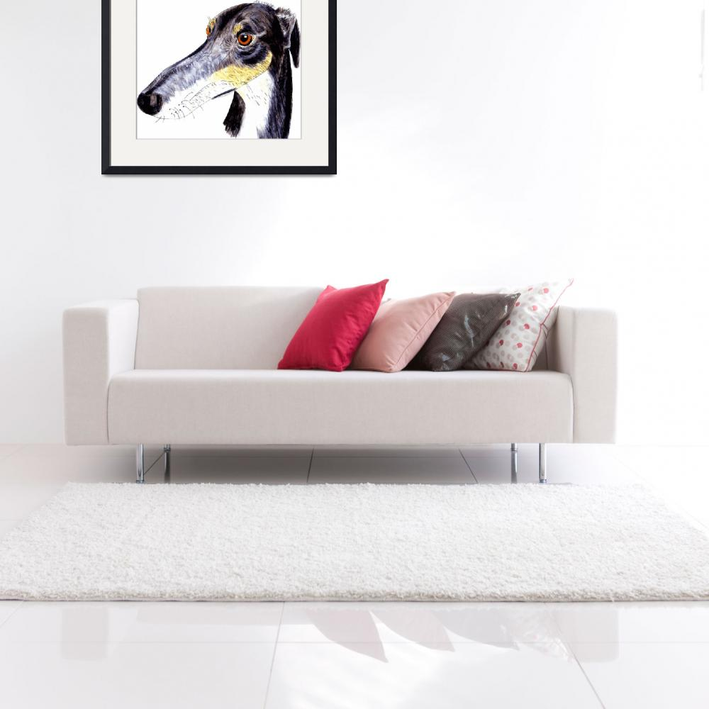 """Quirky greyhound lurcher&quot  (2014) by rayemond"