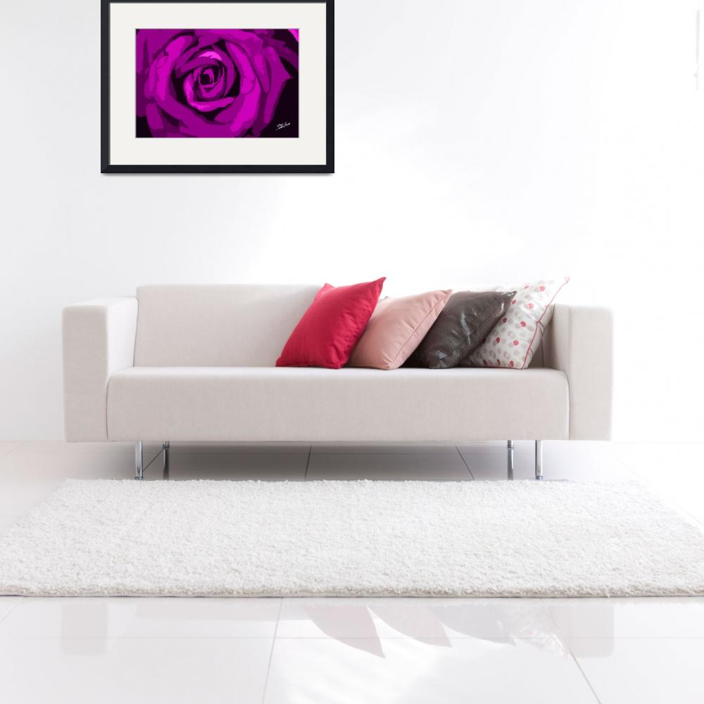 """Pink Rose Signed&quot  (2012) by SouthIdahoPhoto"
