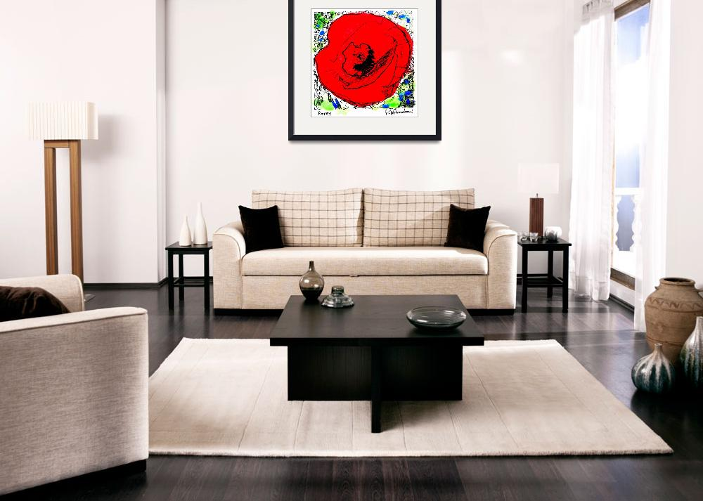 """Red Poppy By RD Riccoboni ™&quot  (2007) by RDRiccoboni"