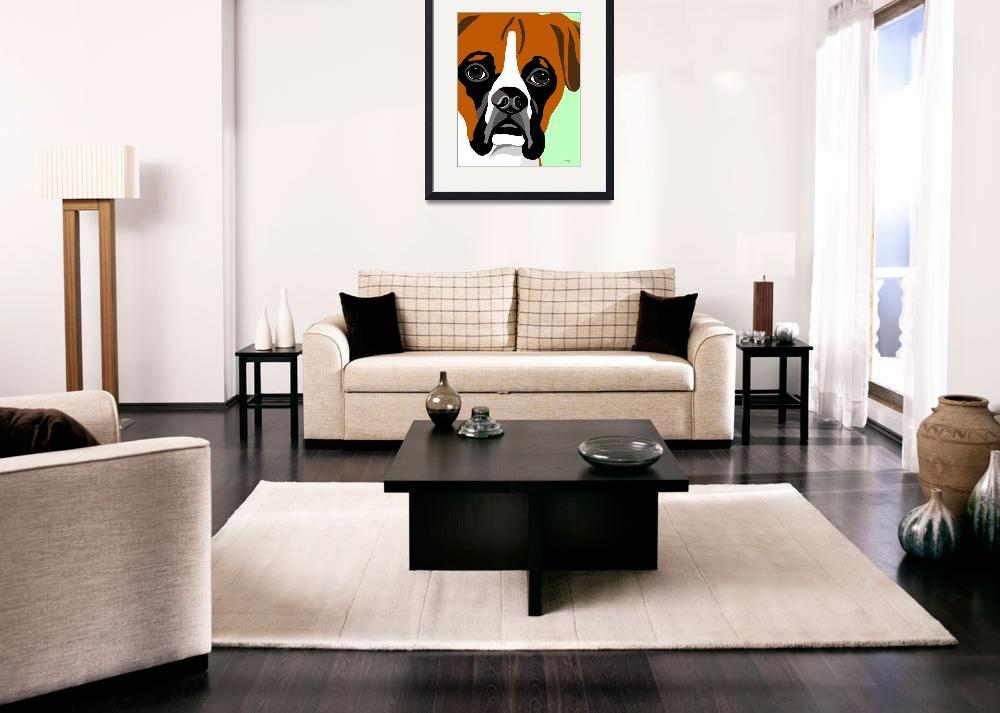 """Boxer Fine Art Print&quot  (2008) by waterart"