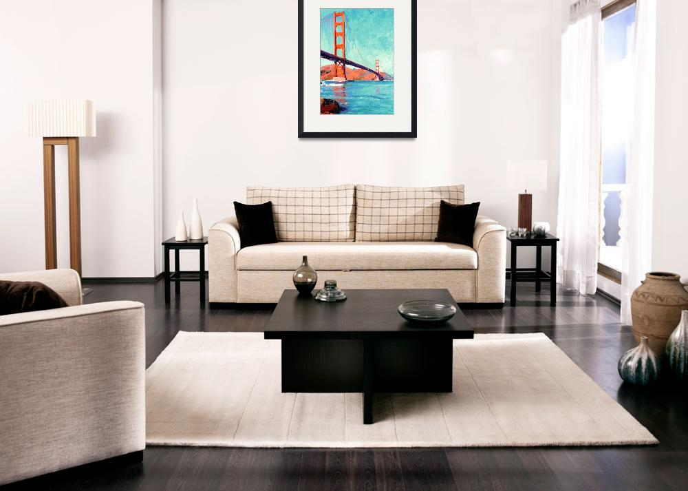 """Golden Gate Bridge San Francisco&quot  (2007) by BeaconArtWorksCorporation"
