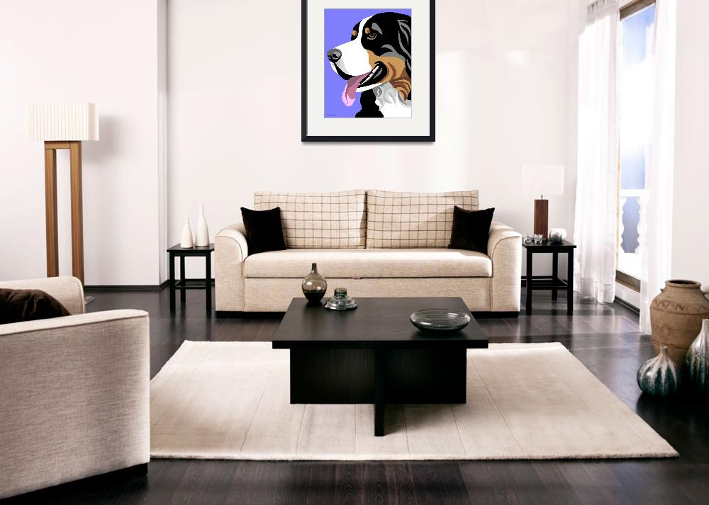 """Bernese Mountain Dog&quot  (2010) by waterart"