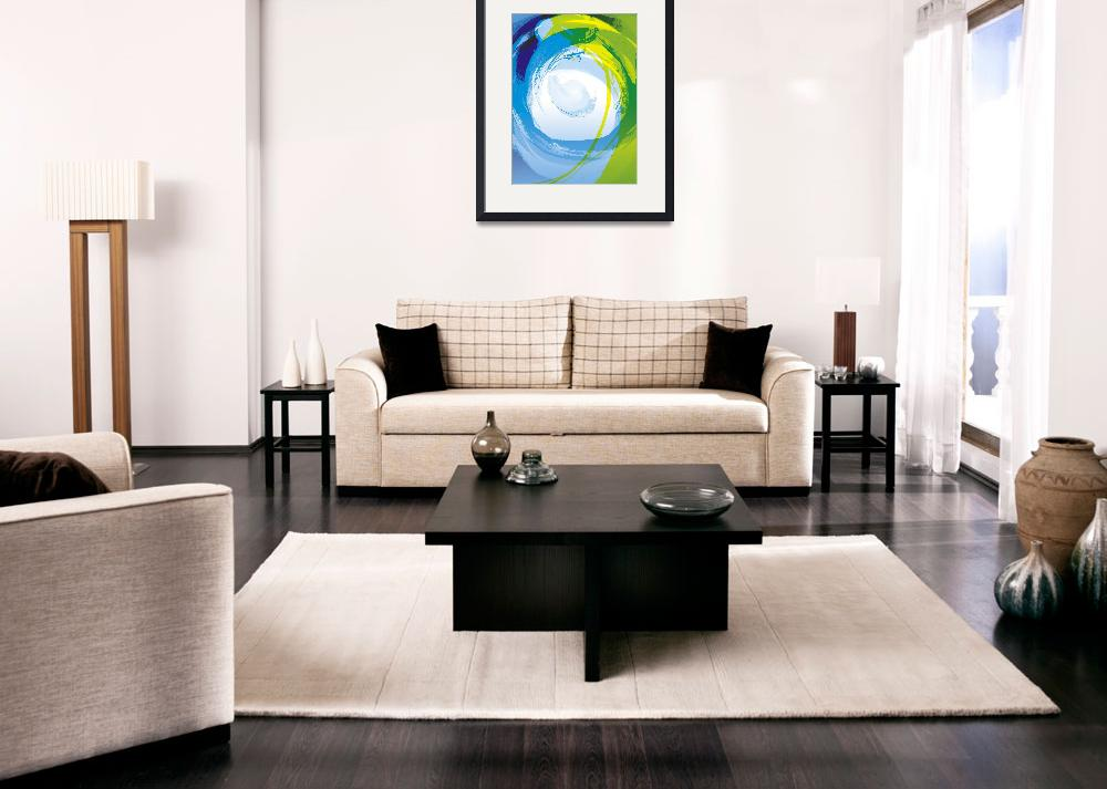"""Blue Enso&quot  by art4harmony"