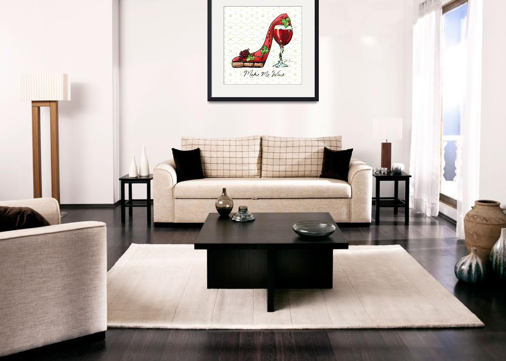 """Cocktail Shoes Wine&quot  (2011) by shariwarren"