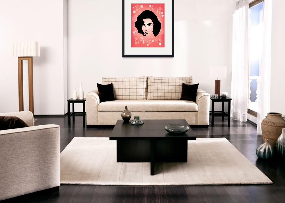 """Elizabeth Taylor - Glamour - Pop Art&quot  (2012) by wcsmack"