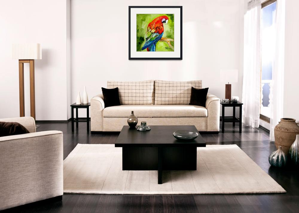 """MACAW TROPICAL&quot  (2010) by MBaldwinFineArt2006"