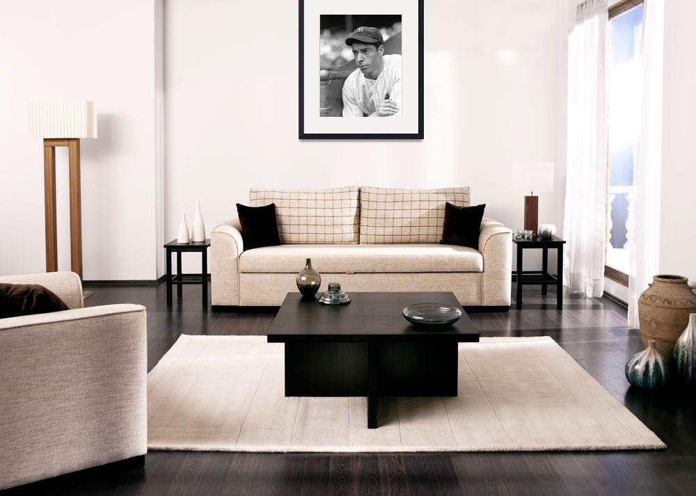 """Joe DiMaggio leaning&quot  by RetroImagesArchive"