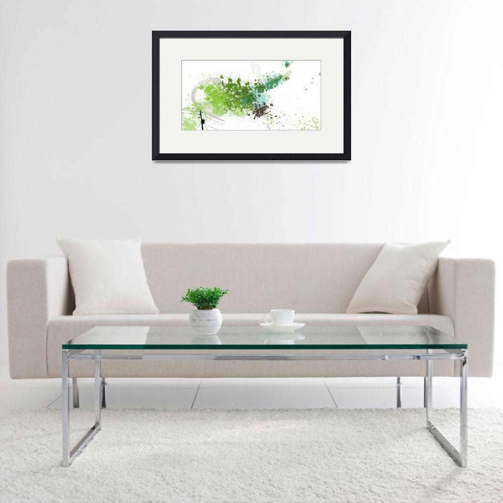 """A Scattering of Green - Panel&quot  (2010) by TuesdayMoon"