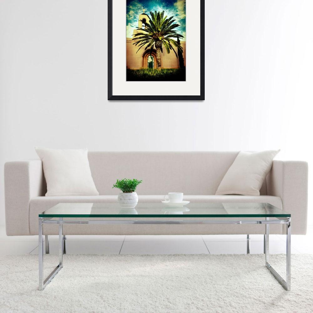 """Newport Temple Palm Color&quot  (2007) by LDSTempleArt"