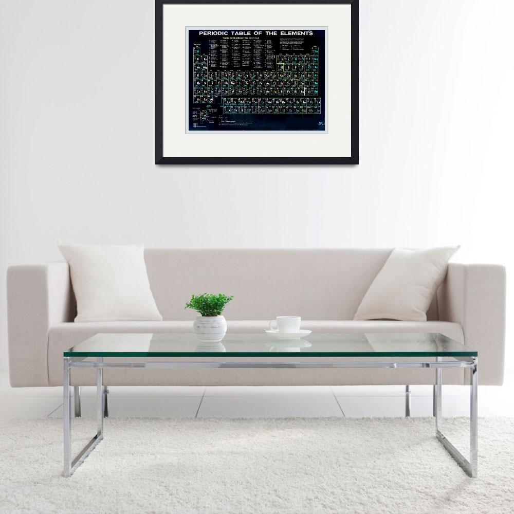 """Periodic Table Of The Elements Vintage Chart Black&quot  (2015) by RubinoFineArt"