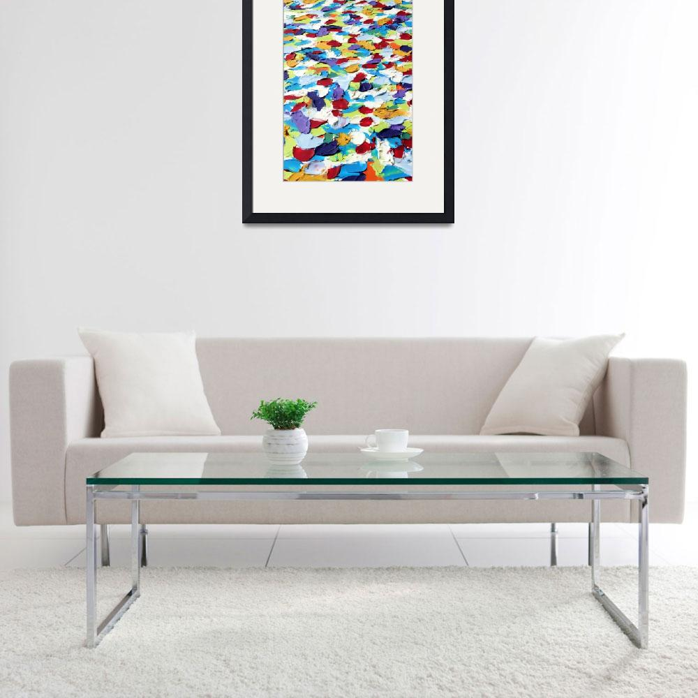 """Abstract Colorful Dots 2&quot  by LittleArtsyShop"
