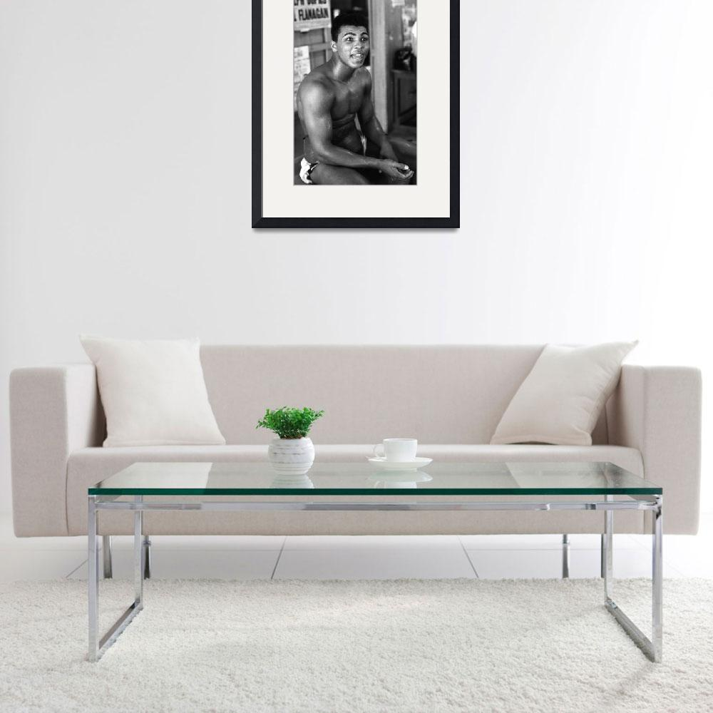 """Muhammad Ali sitting and talking&quot  by RetroImagesArchive"