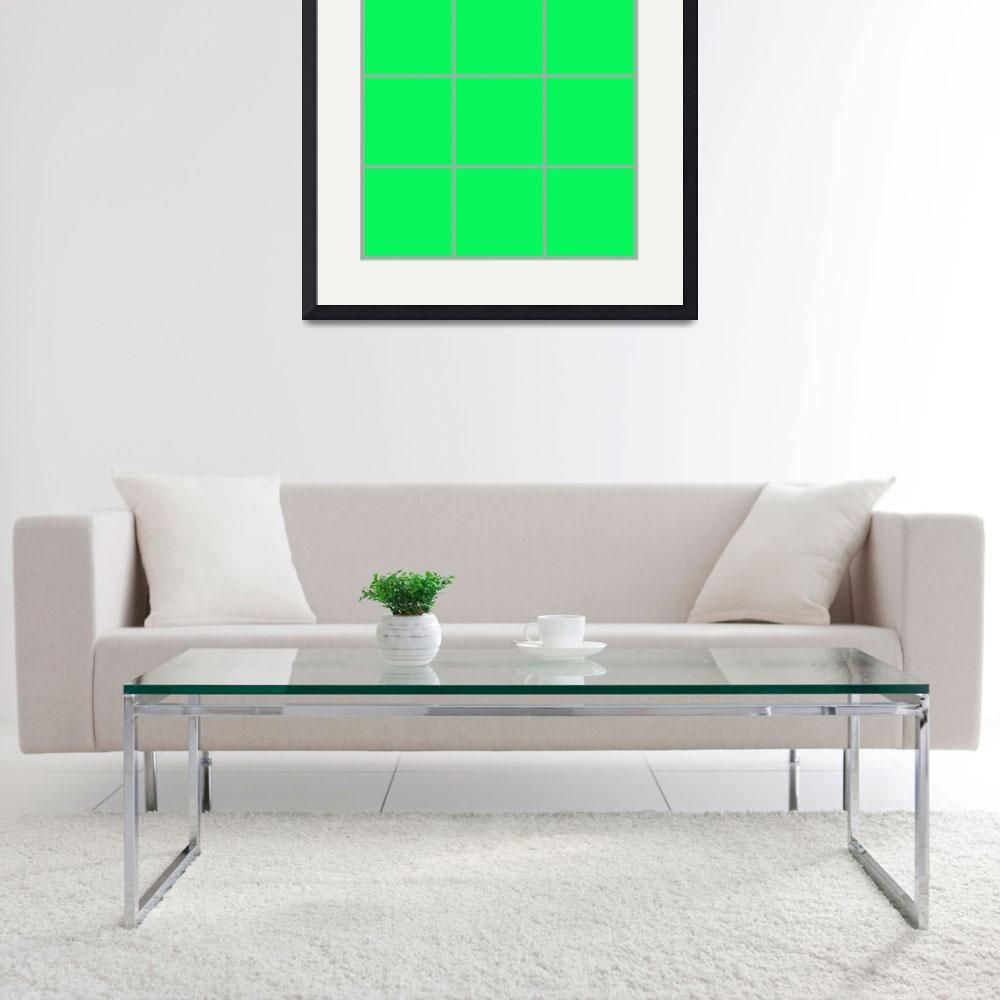 """Green Window 002 Canvas Contemporary Modern&quot  (2010) by Ricardos"