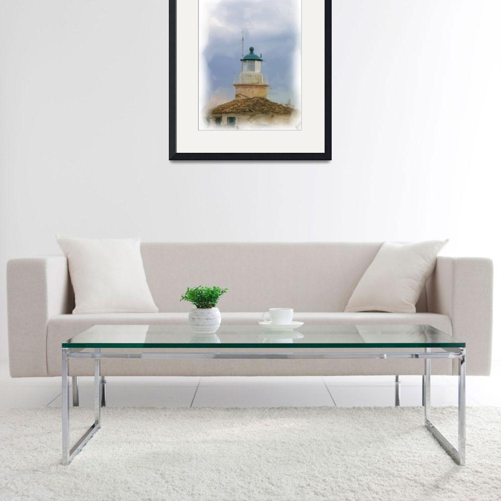 """Corfu old lighthouse&quot  (2010) by clickinart"