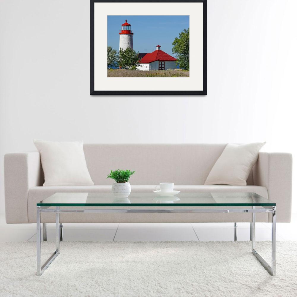 """Nine Mile Point Lighthouse&quot  (2007) by seaside_ron"