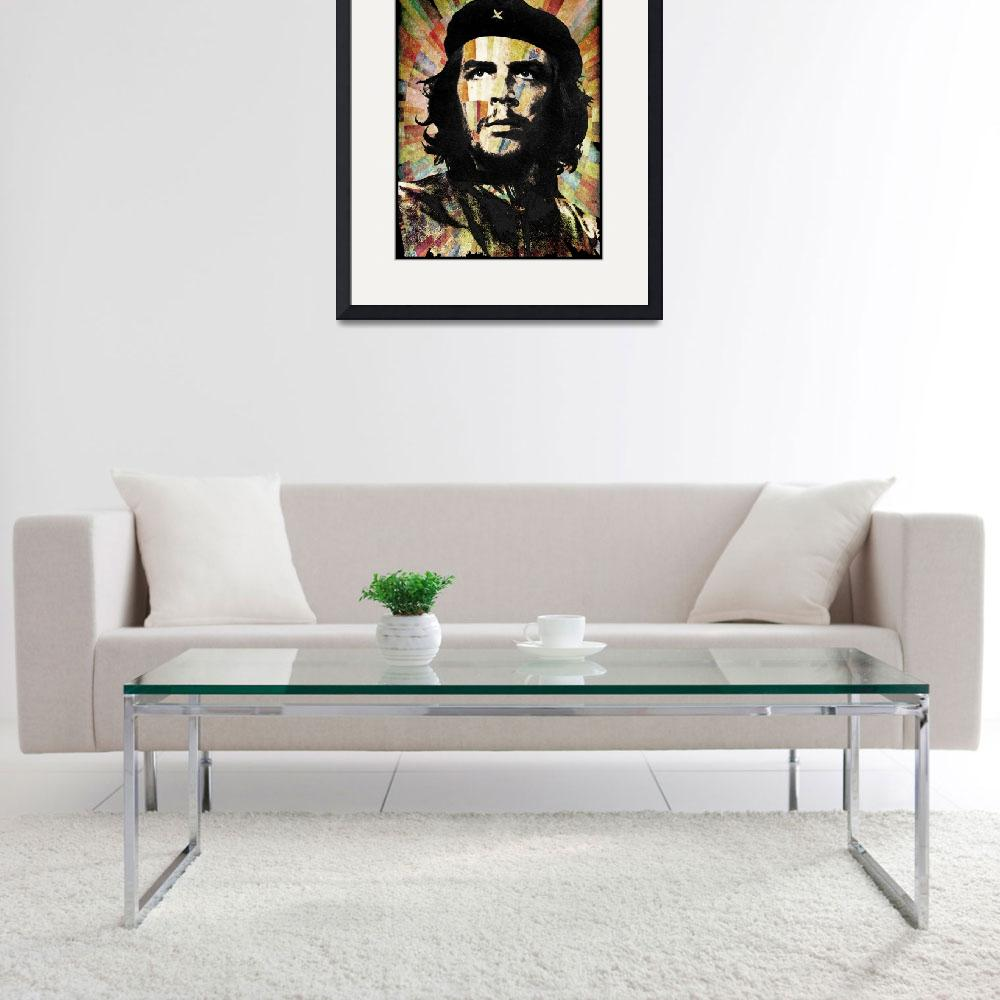 """Che Guevara Revolution Gold&quot  by RubinoFineArt"