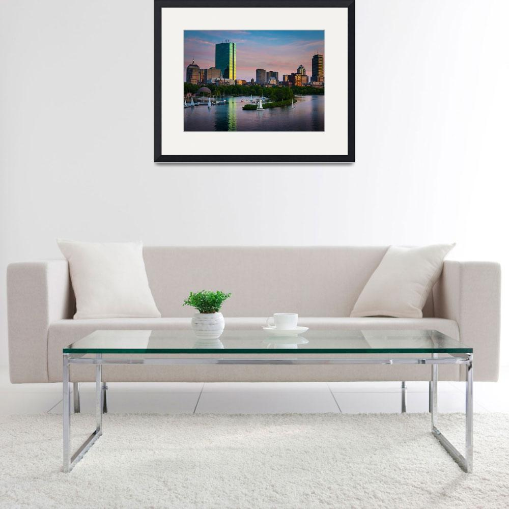 """Boston Skyline&quot  (2012) by Inge-Johnsson"