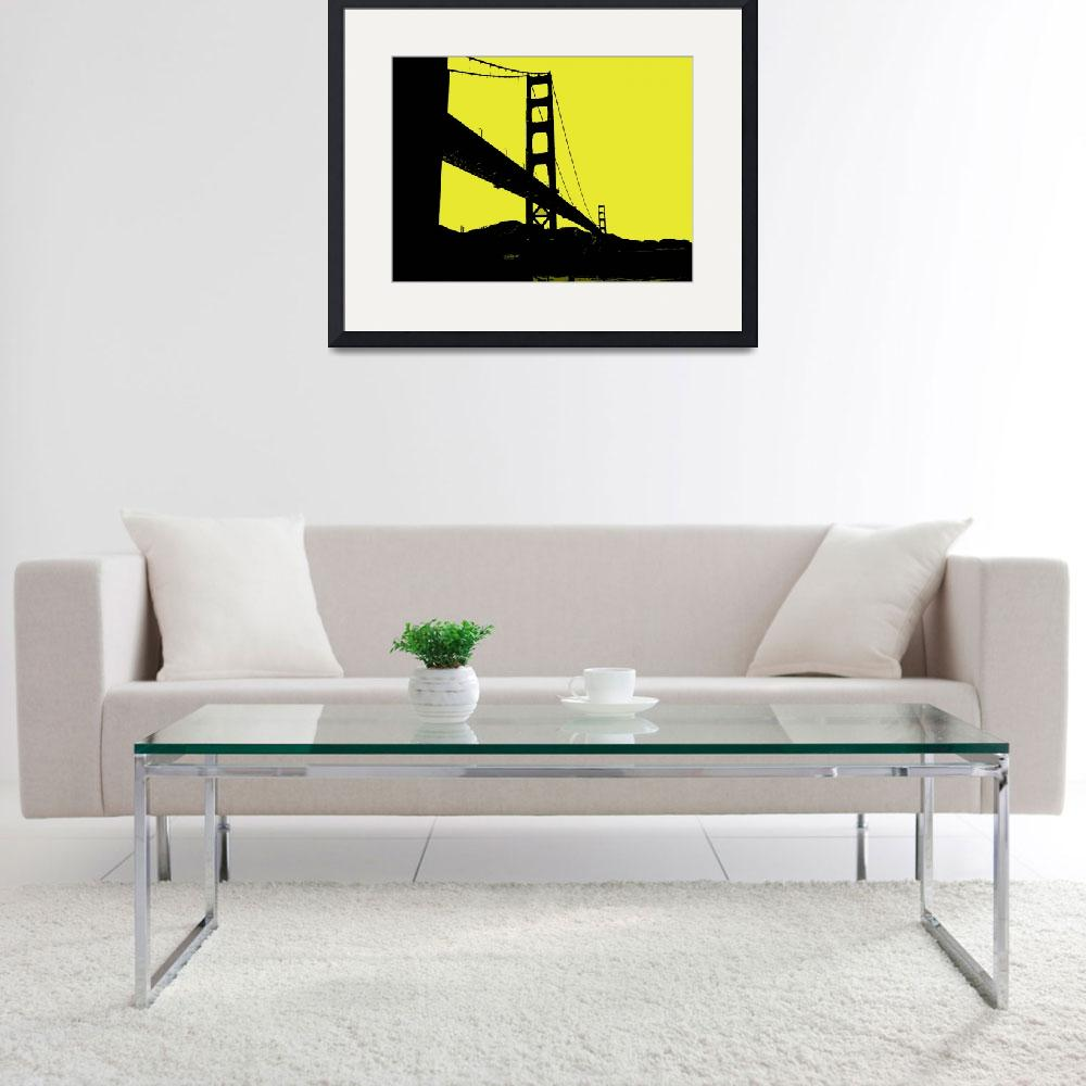 """Glden Gate Bridge in Yellow&quot  (2013) by NKJEK"