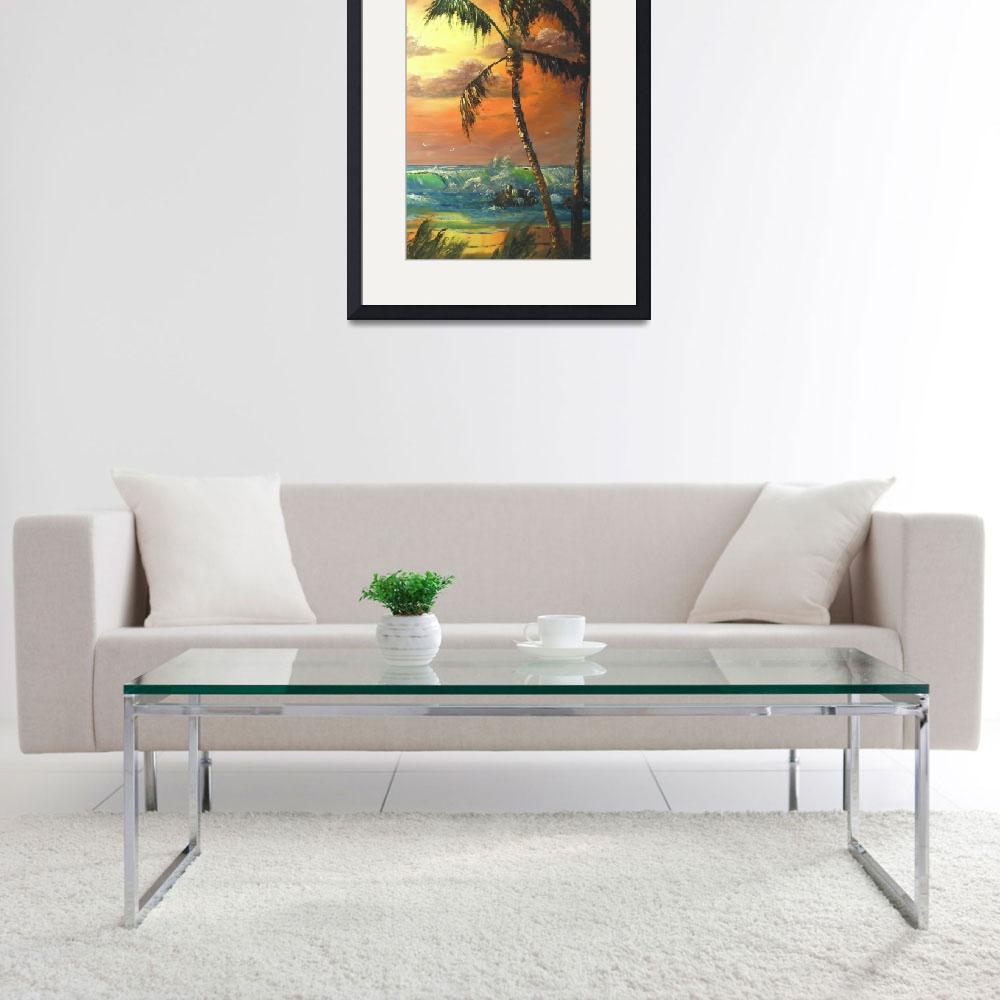 """Tropical Palm Tree&quot  (2012) by mazz"