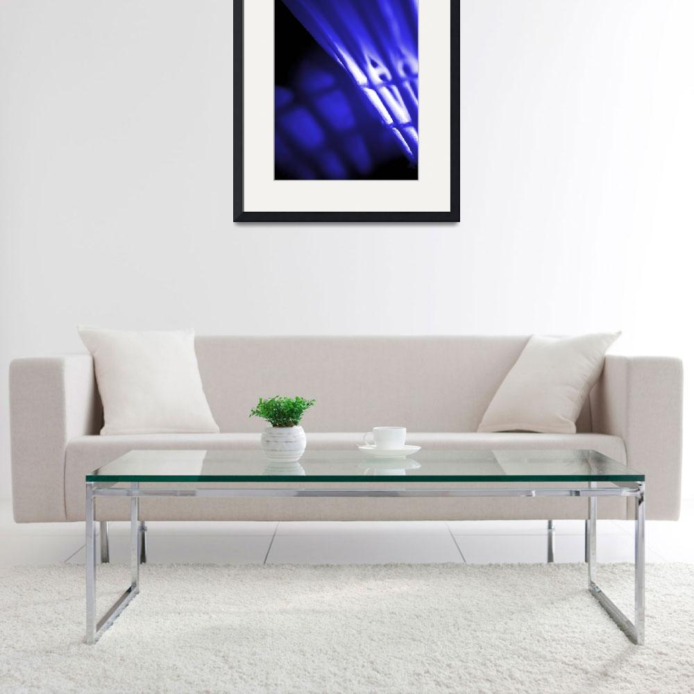 """Blue Abstract Wall Art&quot  by NatalieKinnear"