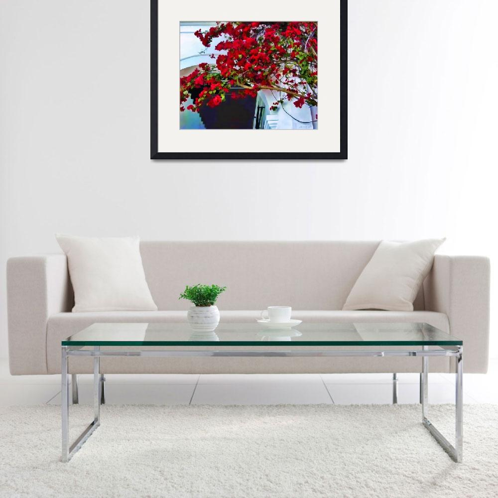 """Red Bougainvillea&quot  (2009) by johncorney"