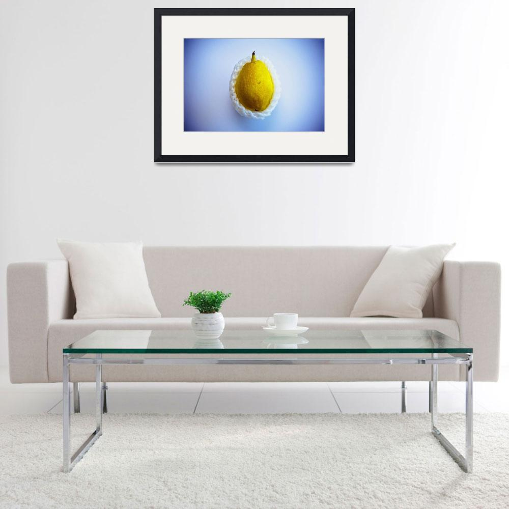 """Yellow pear wrapped in styrofoam&quot  (2007) by ingojez"