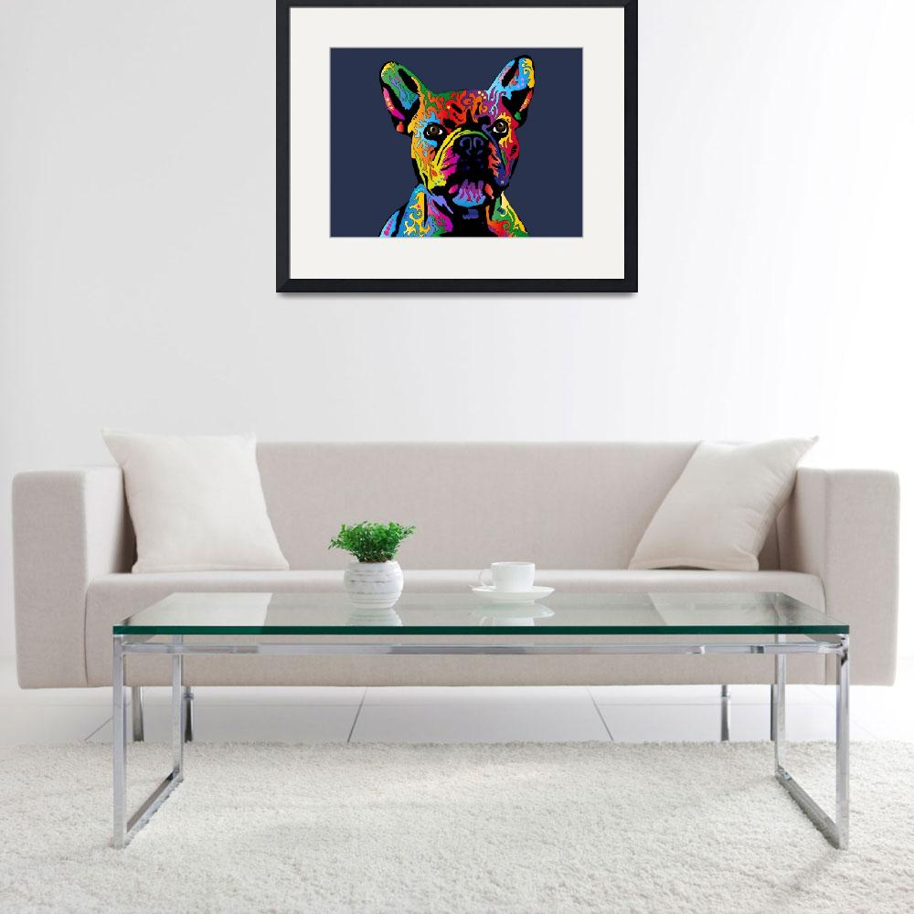 """French Bulldog&quot  (2012) by ModernArtPrints"