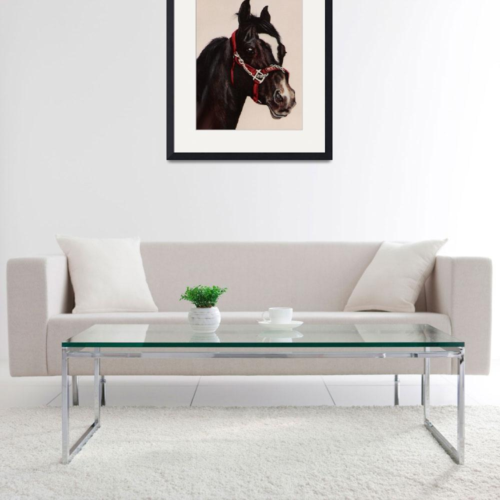 """Arabian Horse painting&quot  by AnimalsbyDiDi"