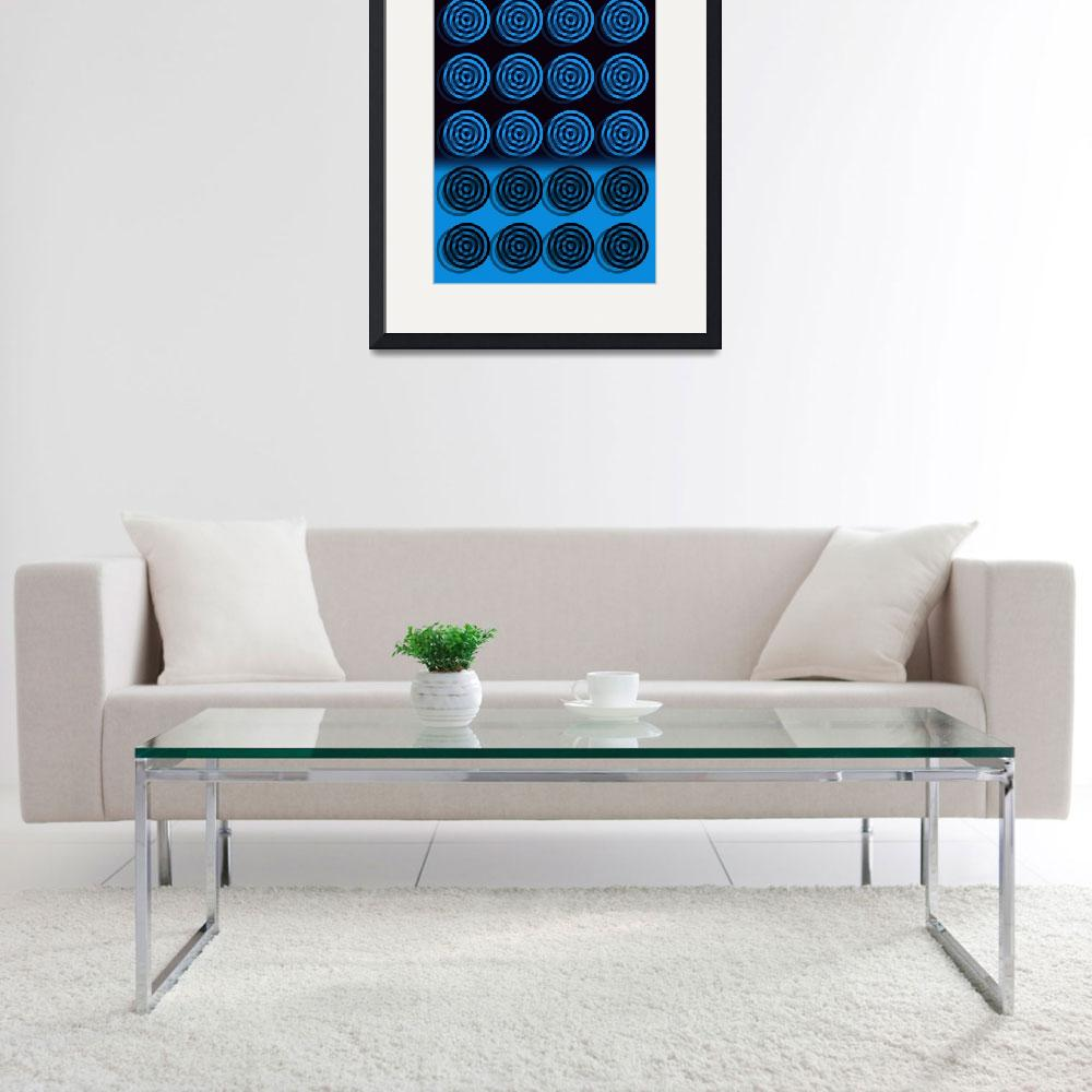 """blue bullseye 600 bubble micro bubbles&quot  by ModernMarvel"