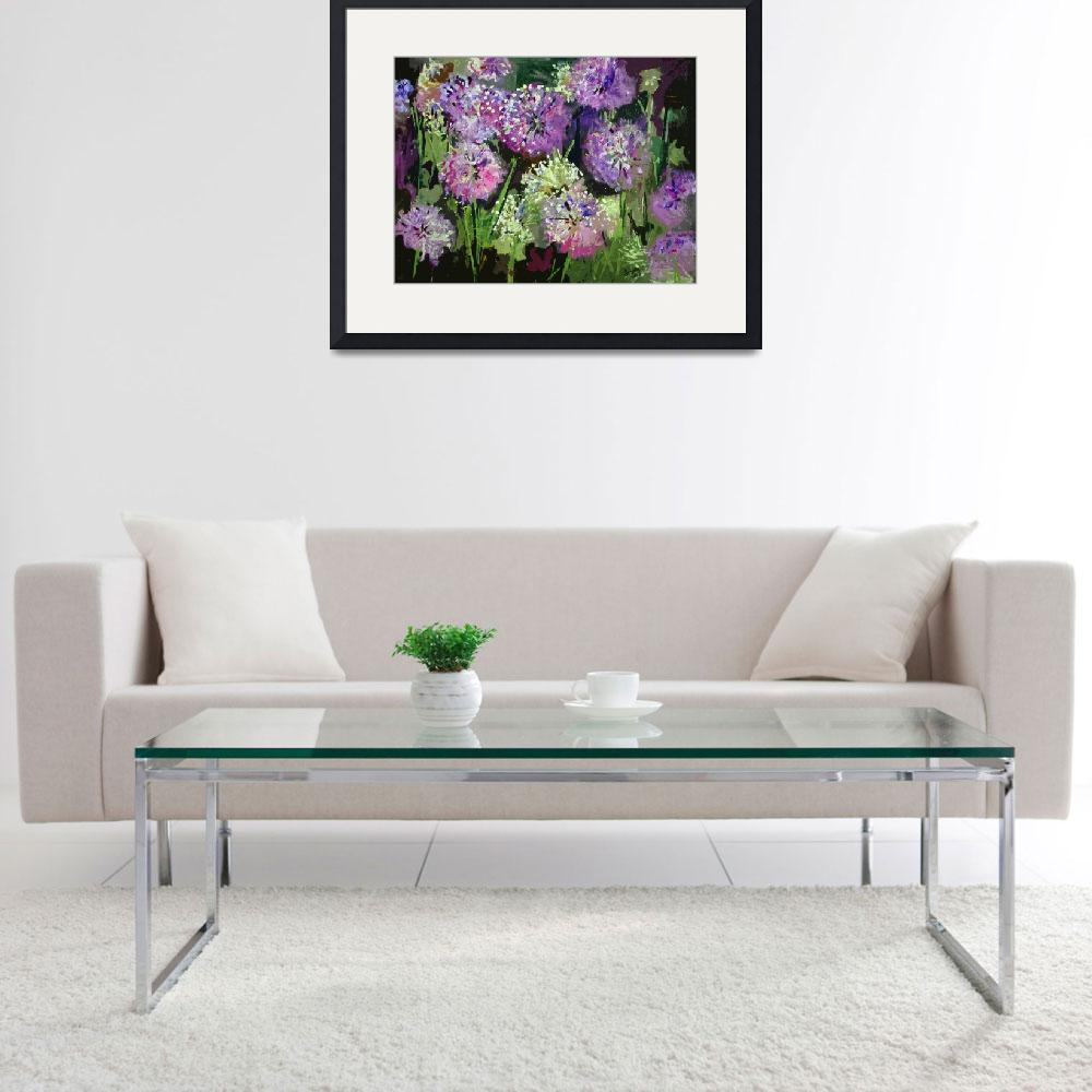 """Allium Modern Decorative Painting&quot  (2014) by GinetteCallaway"