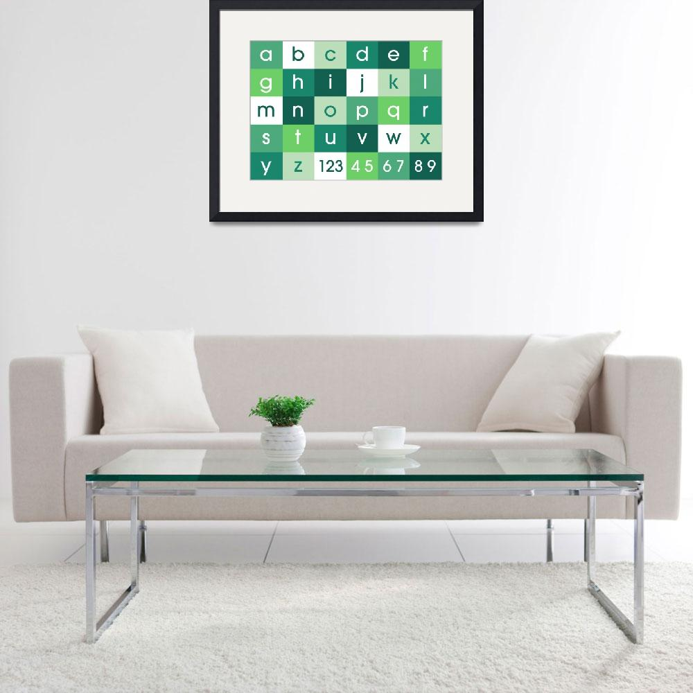 """Alphabet Green&quot  (2011) by ModernArtPrints"
