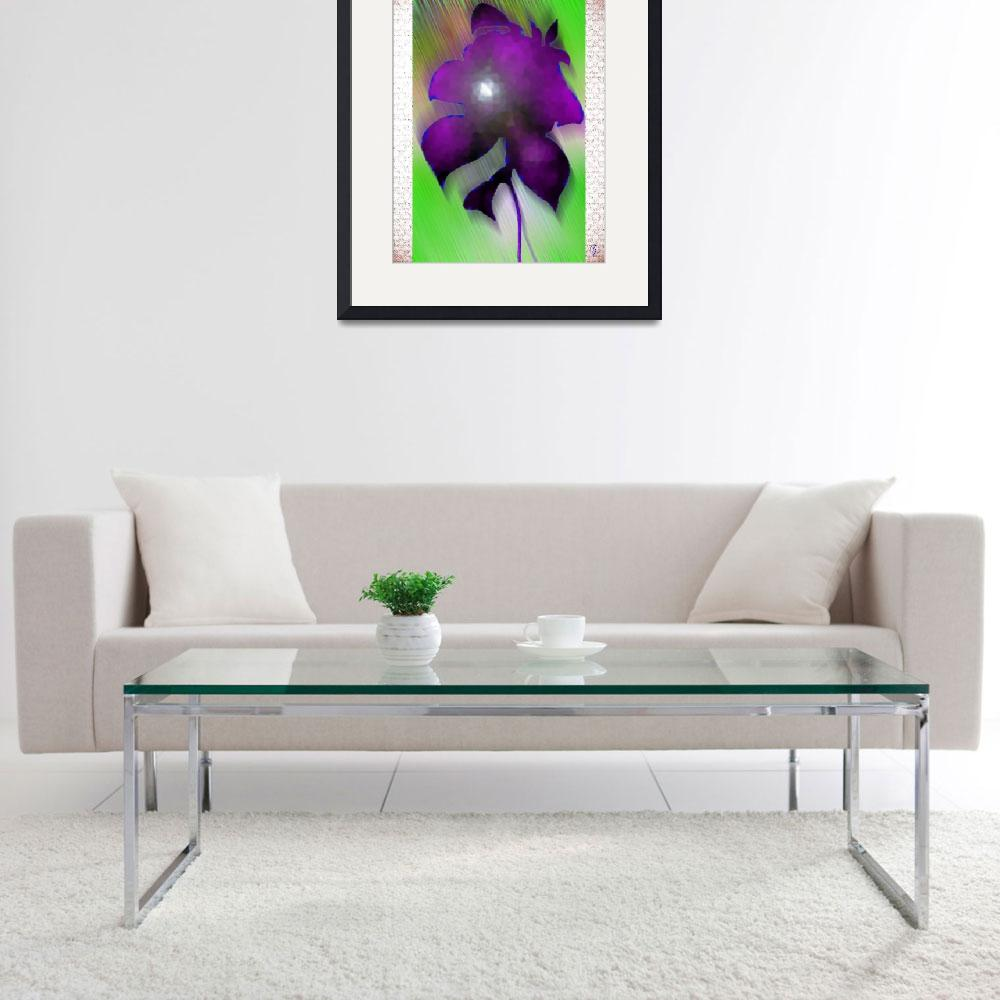 """Purple flower&quot  (1988) by Pauljs"