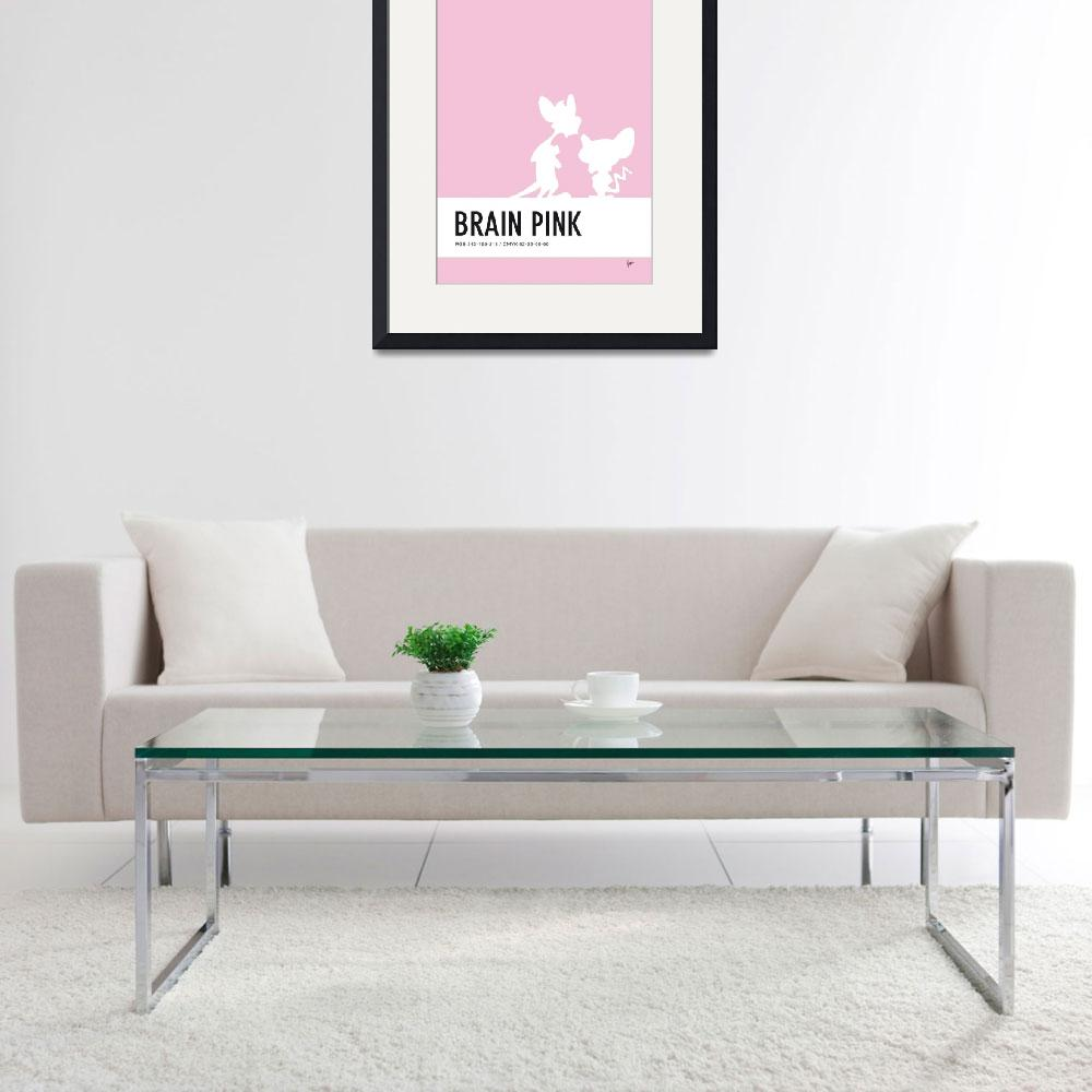 """No01 My Minimal Color Code poster Pinky and the Br&quot  by Chungkong"