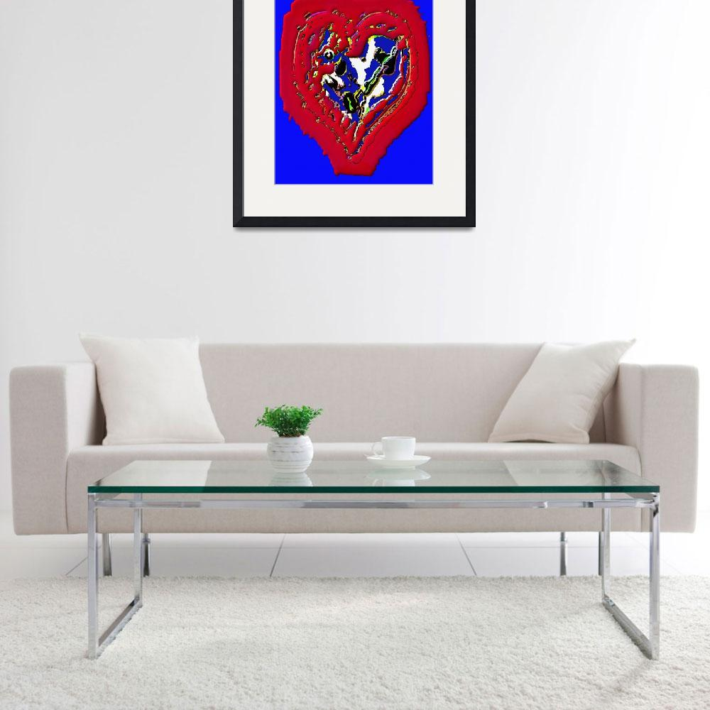 """Haitian Heart - 1&quot  (2010) by ousseau-arts-designs"