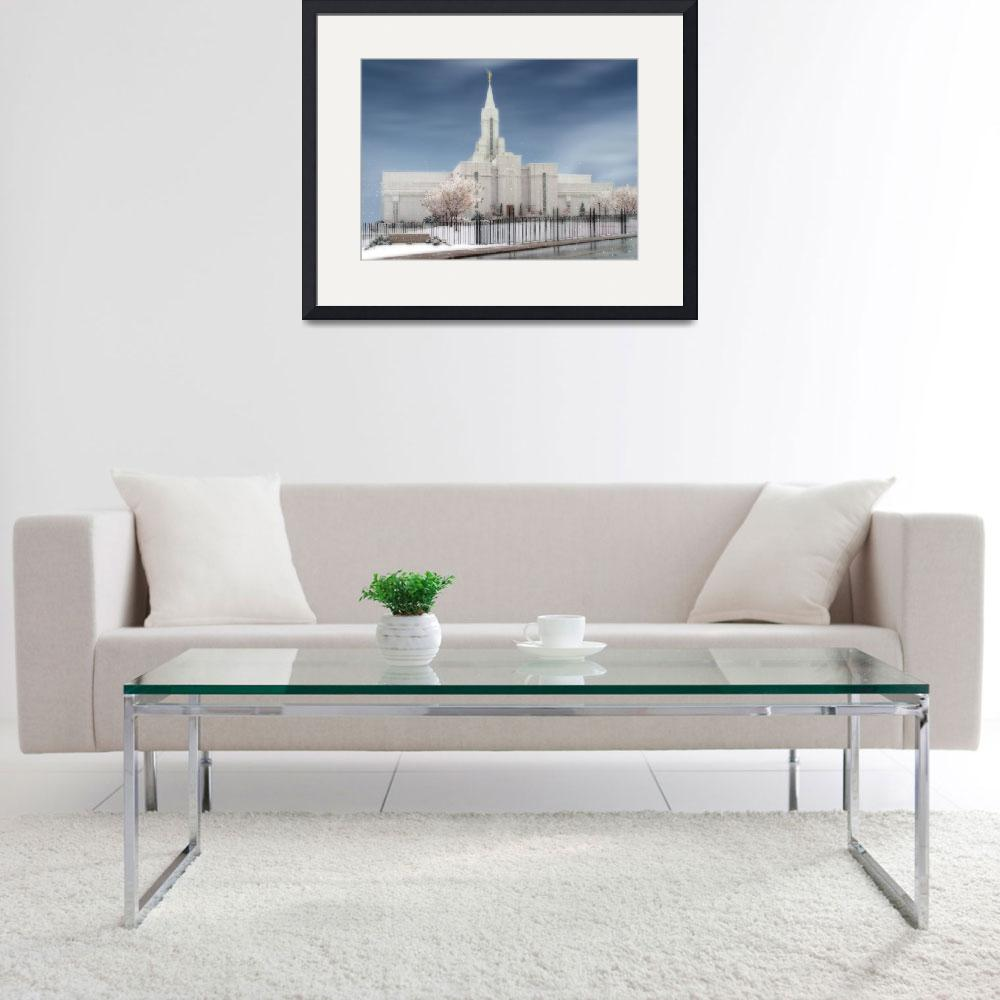 """LDS Temples / Bountiful Temple / Winter&quot  by TerrySpringer"