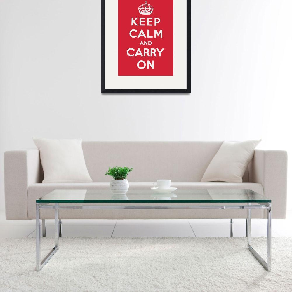 """Red Keep Calm And Carry On&quot  by oldies"