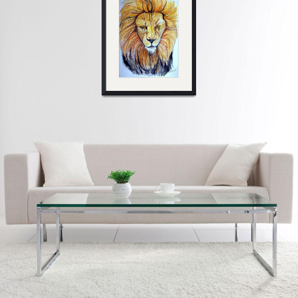 """Lion&quot  (2009) by ChrisCrowley"