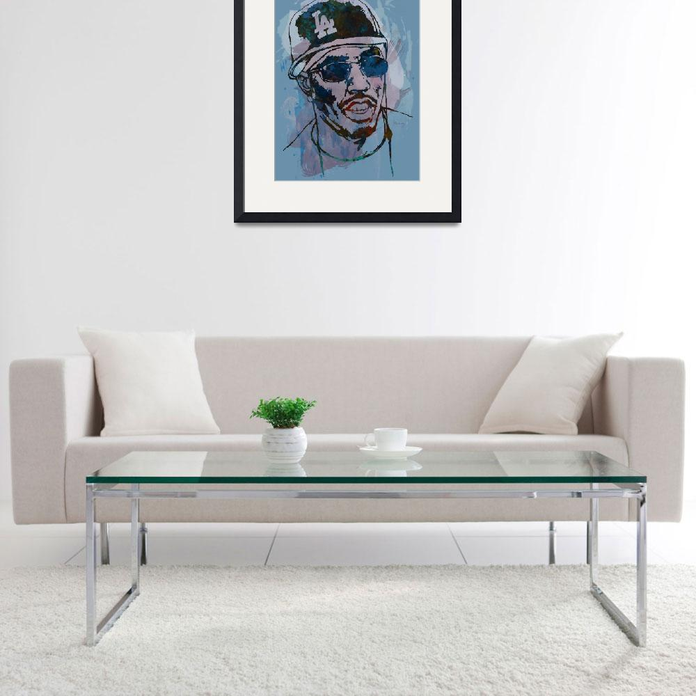 """P Diddy - Stylised Etching Pop Art Poster&quot  (2014) by visualharbour"